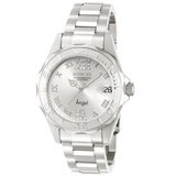 Invicta 14396 Women's Angel Silver Tone Dial Stainless Steel Bracelet Dive Watch