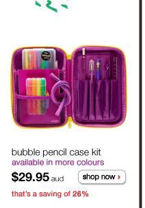 bubble pencil case kit - available in more colours - $29.95aud - shop now - that's a saving of 26%
