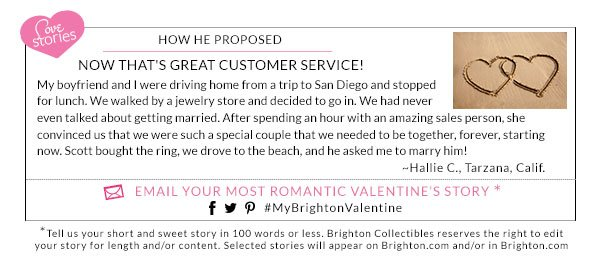 Email Your Most Romantic Valentine's Story