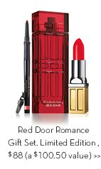 Red Door Romance Gift Set. Limited Edition, $88 (a $100.50 value).