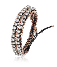 Venetie Double Bracelet, rose gold-plated