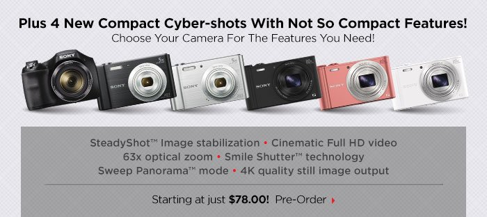 Plus 4 New Compact Cameras