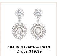 Stella Navette & Pearl Drops.