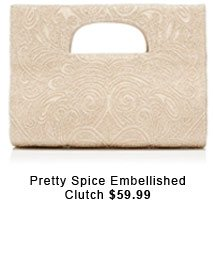 Pretty Spice Embellished Clutch.