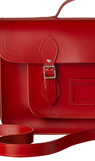 cambridge satchel 15 inch red batchel