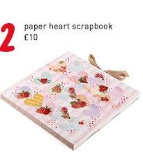 paper heart scrapbook