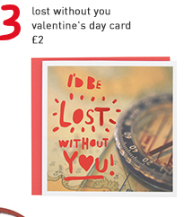 lost without you valentine's day card