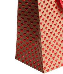medium red emboss gift bag