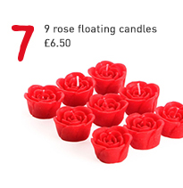 9 rose floating candles