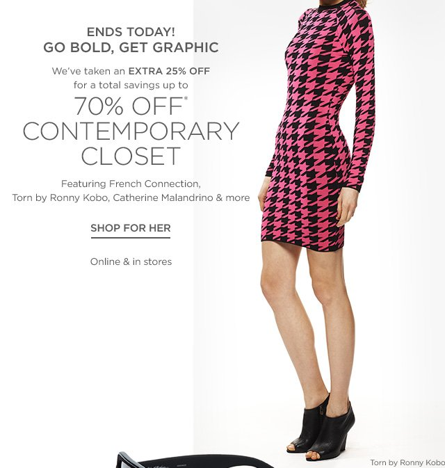 Up to 70% off Contemporary