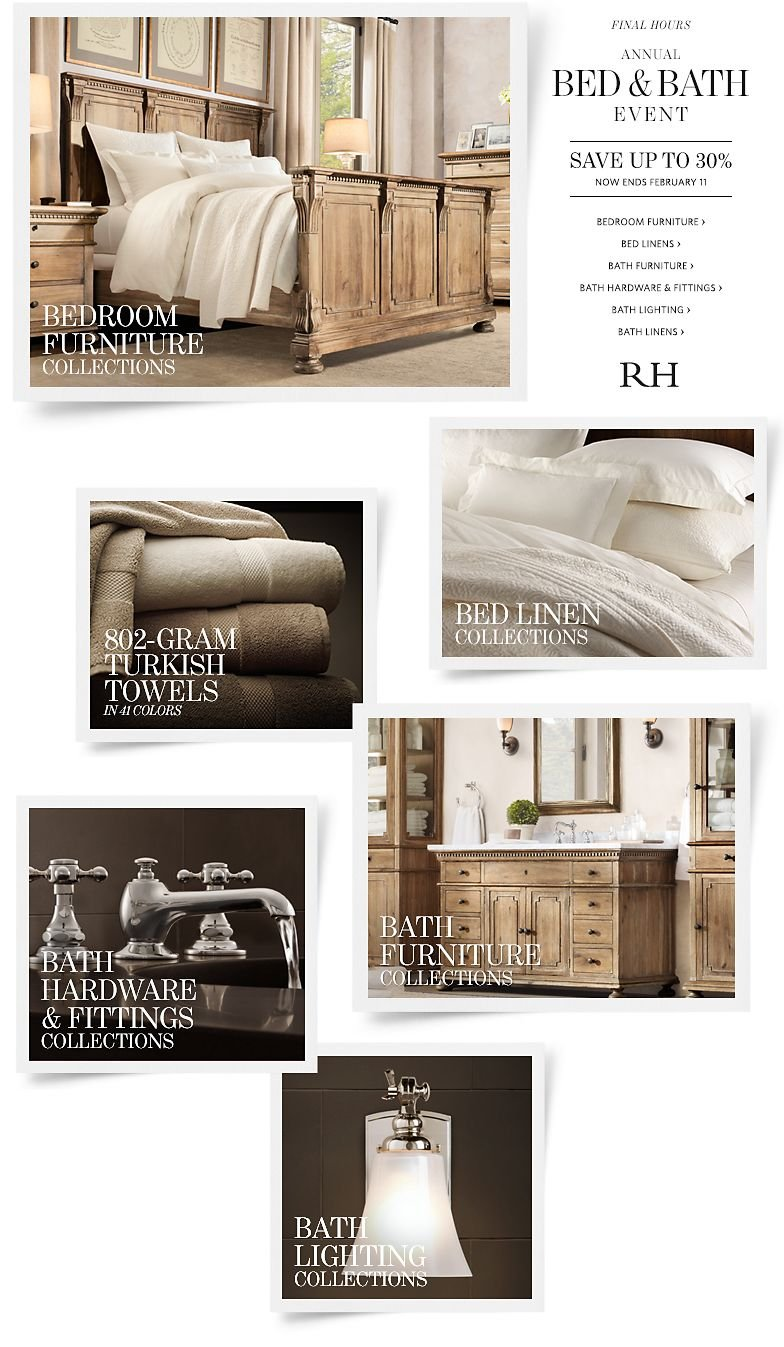 Final Hours - Annual Bed and Bath Event - Save up to 30%
