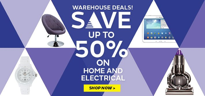 Warehouse Deals - save up to 50% on home & electrical