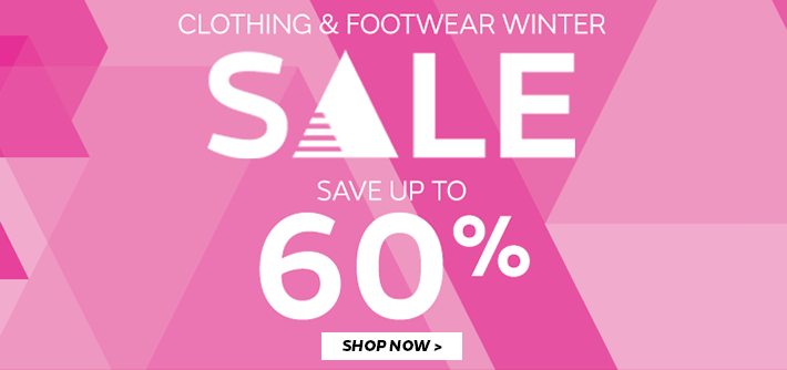 Save up to 60% on Clothing & Footwear