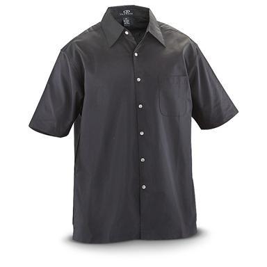 Vantage® Short-sleeved Textured Camp Shirt