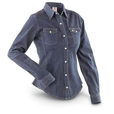 Women's Carhartt® Denim Long-sleeved Shirt