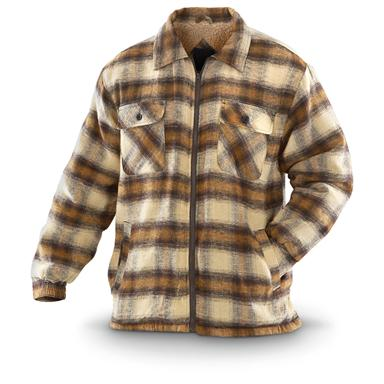 Ten West Sherpa-lined Cotton Shirt Jacket