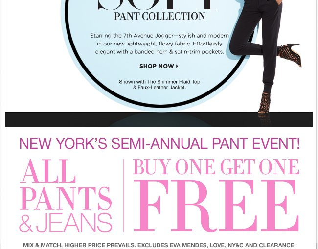 Trending now!  The Soft Pant Collection.