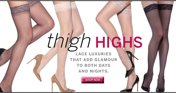 Lace top thigh highs.  Luxury for day or night.