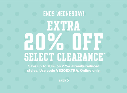 Extra 20% Off Select Clearance