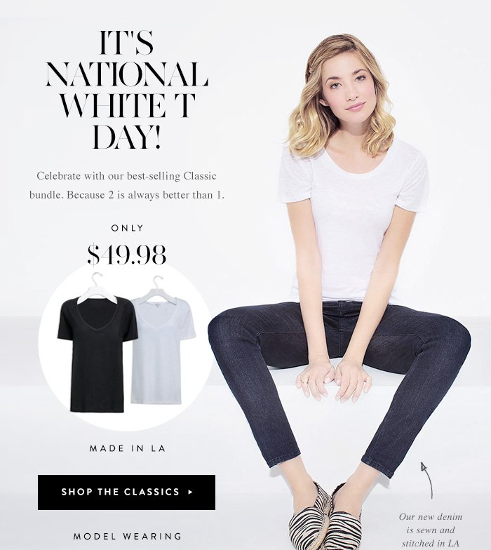 It's National White T Day!