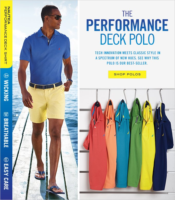 The Performance Deck Polo. Shop Now