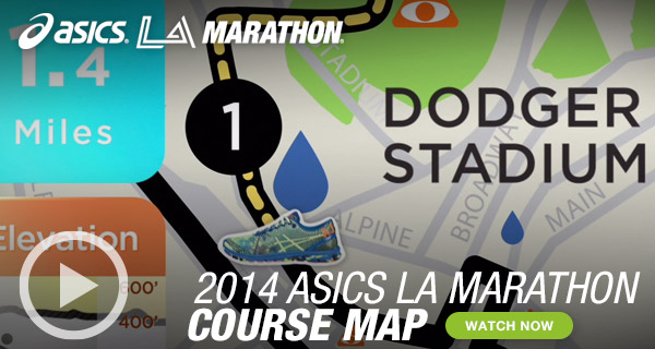 Watch the ASICS LA Marathon Map: Miles 1 - 8 - Hero B