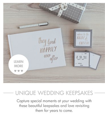 Capture special moments at your wedding with these beautiful keepsakes and love revisiting them for years to come.