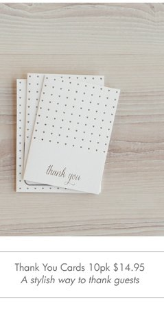 Thank You Cards 10pk  A stylish way to thank guests