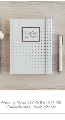 Wedding Notes (Pen)  Comprehensive 16-tab planner