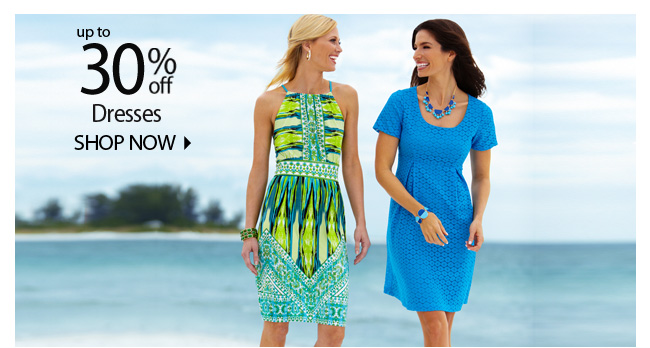 Up to 30% off Dresses