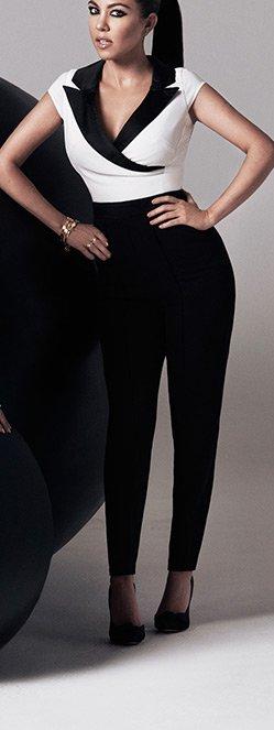 Kardashian Tuxedo Jumpsuit