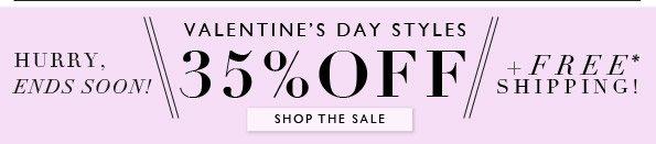 35% Off V-Day Styles