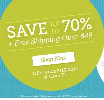 Save up to 70% plus Free Shipping Over $49. Shop Now.