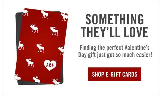 SOMETHING  THEY'LL LOVE SHOP E-GIFT CARDS