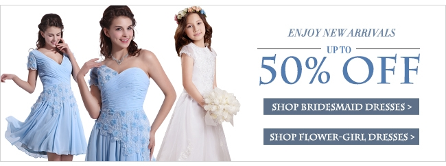 Bridesmaid Dresses and Shop Flower-Girl Dresses