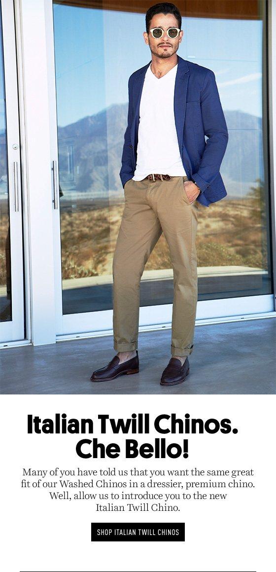 Italian Twill Chinos
