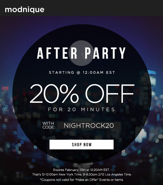 After Party - 20% Off Everything Sitewide