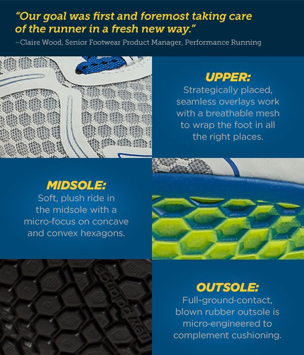 Our goal was first and foremost taking care of the runner in a fresh new way.