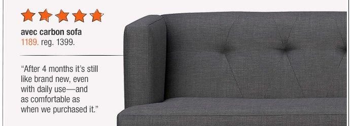 avec carbn sofa 1189. reg. 1399.