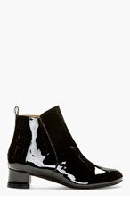 ROBERT CLERGERIE Black Patent Leather Siri Boots for women