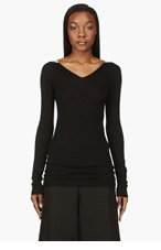 RICK OWENS Black Cashmere Sweater for women