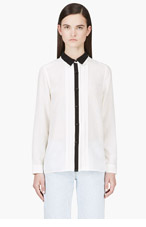 MARC BY MARC JACOBS Ivory Silk Pleated Blouse for women