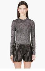 ALEXANDER WANG Black & silver Knit sweater for women