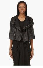 RICK OWENS Black Leather Fortuny Vest for women