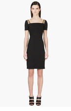 VERSUS Black Gold Trim Shift Dress for women