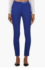 AVELON Blue Wool Rank Pants for women