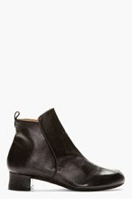 ROBERT CLERGERIE Black Leather Siri Boots for women