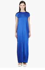 ACNE STUDIOS Royal Blue Teddi Satin Dress for women