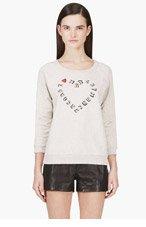 MARC BY MARC JACOBS Beige I Heart MJ Sweatshirt for women