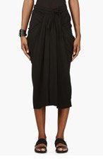 RICK OWENS Black Pleated & gathered Vicious Skirt for women